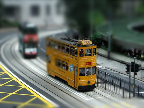 Tram at Central - Hong Kong by roywkw