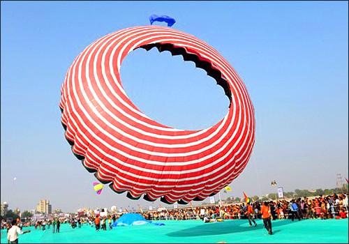 Red Spiral Kite